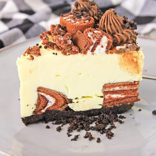 Swiss Roll Cheesecake