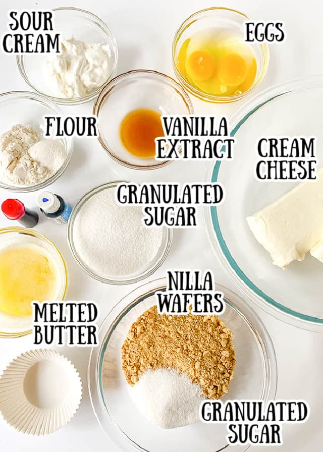 overhead photo of ingredients on a white surface with text saying what the ingredient is